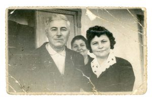 Grandpa Neculai with his two sisters (prior to his death in 1971)